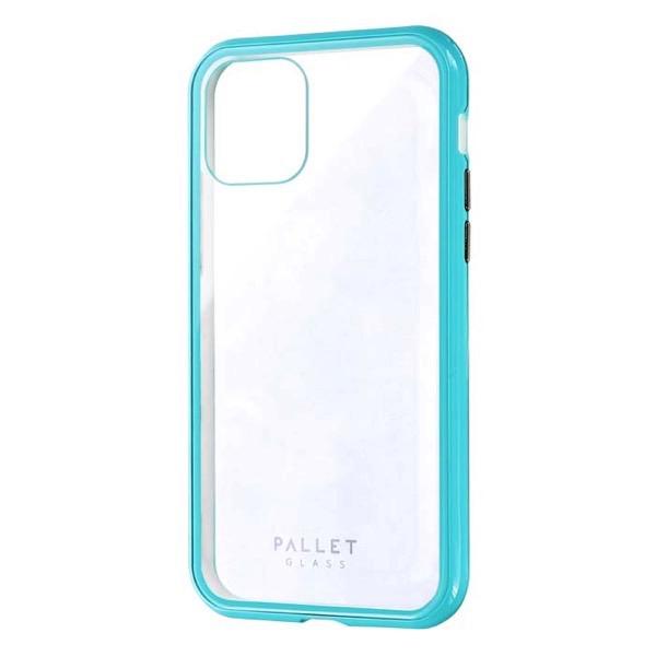 LEPLUS iPhone 11 Pro ガラスハイブリッドケース SHELL GLASS COLOR クリアミントグリーン