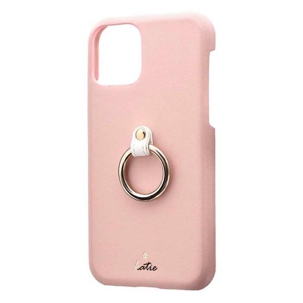 LEPLUS iPhone 11 Pro リング付PUレザーシェルケース SHELL RING Katie ピンク