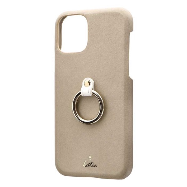 LEPLUS iPhone 11 Pro リング付PUレザーシェルケース SHELL RING Katie ベージュ
