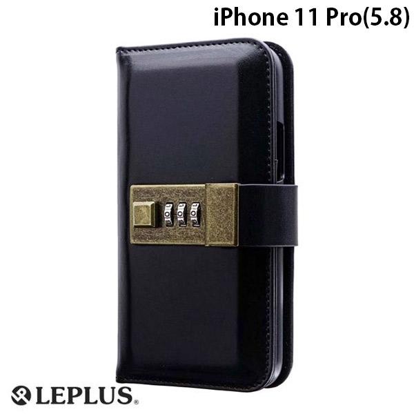 LEPLUS iPhone 11 Pro ロック機能搭載PUレザーブックケース NUMBER LOCK ブラック
