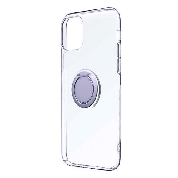 LEPLUS iPhone 11 Pro 極薄リング付ハードケース CLEAR RING シルバー