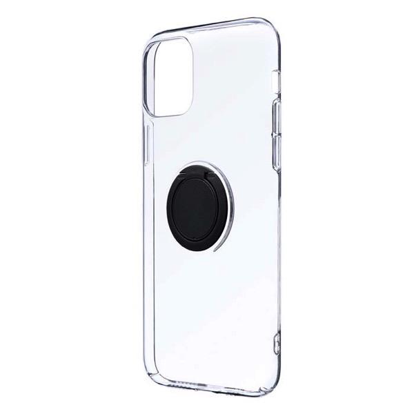 LEPLUS iPhone 11 Pro 極薄リング付ハードケース CLEAR RING ブラック
