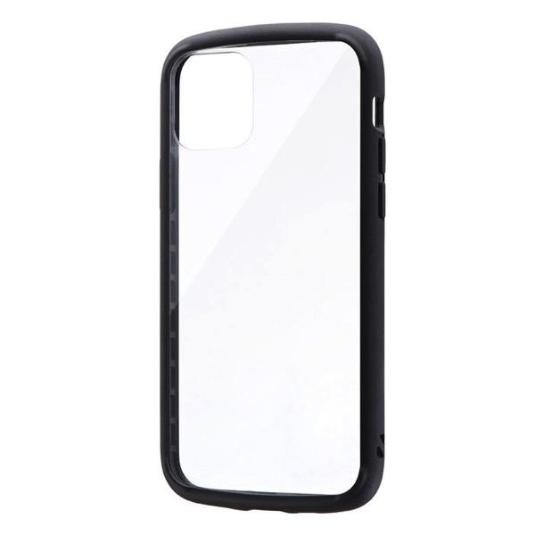 LEPLUS iPhone 11 Pro 耐衝撃ガラスハイブリッドケース PALLET GLASS ブラック