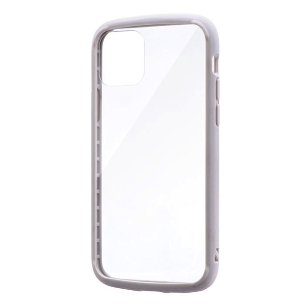 LEPLUS iPhone 11 Pro 耐衝撃ガラスハイブリッドケース PALLET GLASS ライトグレー