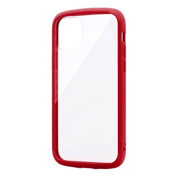 LEPLUS iPhone 11 Pro 耐衝撃ガラスハイブリッドケース PALLET GLASS レッド