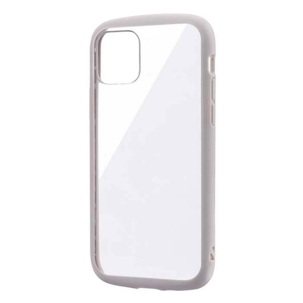LEPLUS iPhone 11 Pro 耐衝撃ハイブリッドケース PALLET CLEAR ライトグレー