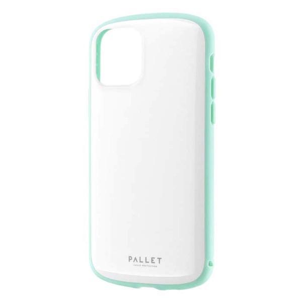 LEPLUS iPhone 11 Pro 超軽量・極薄・耐衝撃ハイブリッドケース PALLET AIR ホワイトミント