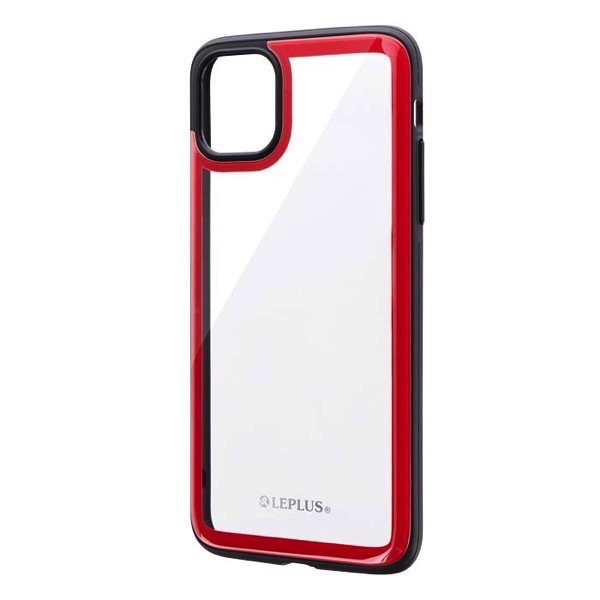 LEPLUS iPhone 11 Pro Max 背面3Dガラスシェルケース SHELL GLASS Round レッド