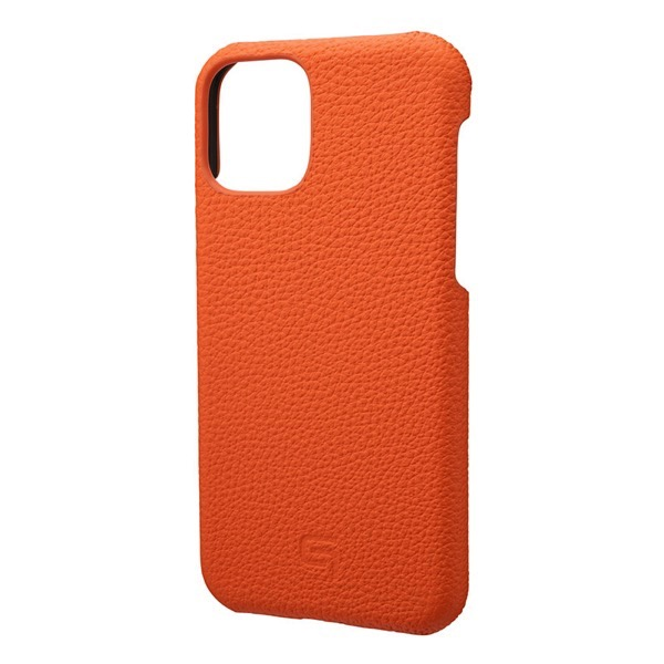GRAMAS iPhone 11 Pro Shrunken-calf Leather Shell Case オレンジ