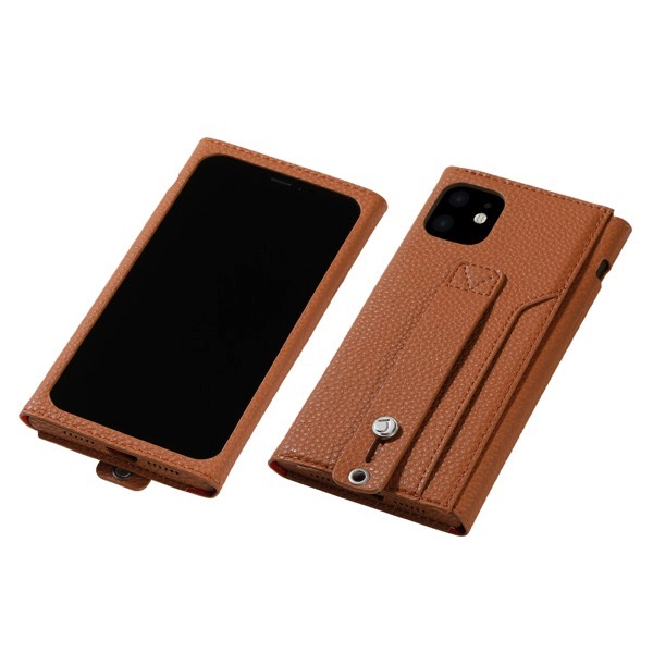 Deff iPhone 11 Pro clings Slim Hand Strap Case キャメル