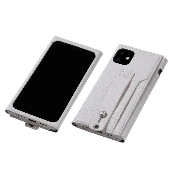 Deff iPhone 11 Pro clings Slim Hand Strap Case ホワイト