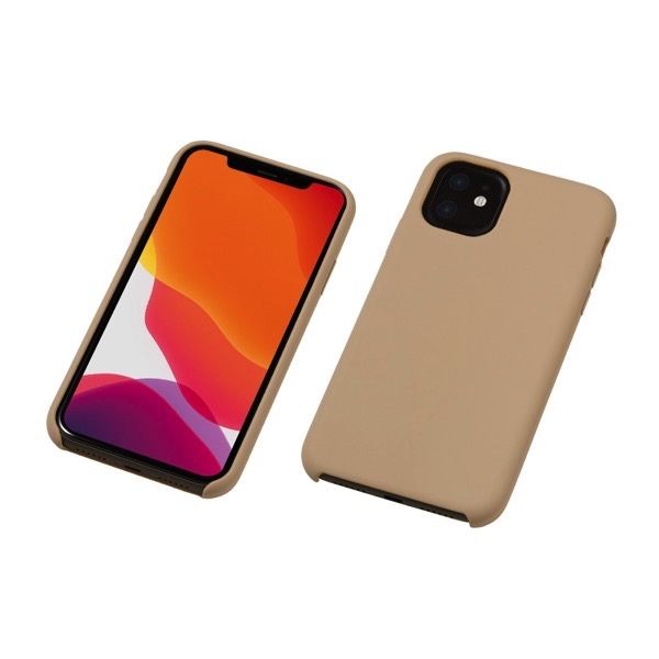 Deff iPhone 11 CRYTONE Hybrid Silicone Hard Case グレージュ