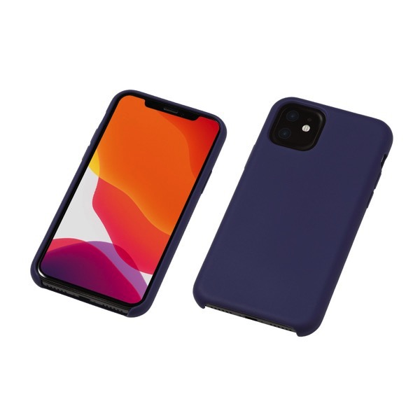 Deff iPhone 11 CRYTONE Hybrid Silicone Hard Case ネイビー
