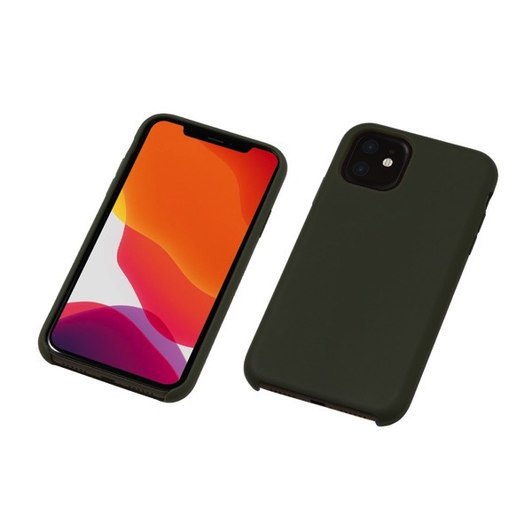 Deff iPhone 11 CRYTONE Hybrid Silicone Hard Case オリーブ