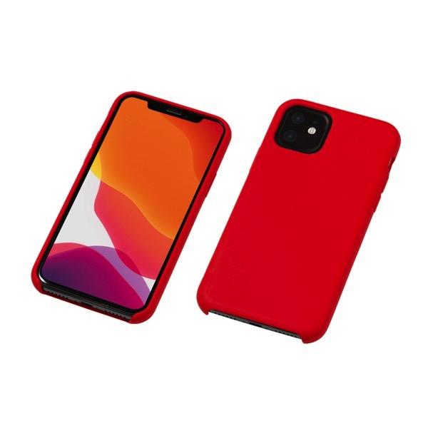 Deff iPhone 11 CRYTONE Hybrid Silicone Hard Case レッド