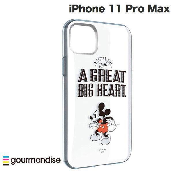gourmandise iPhone 11 Pro Max ケース IIIIfi+ (イーフィット) CLEAR ディズニーキャラクター ミッキーマウス