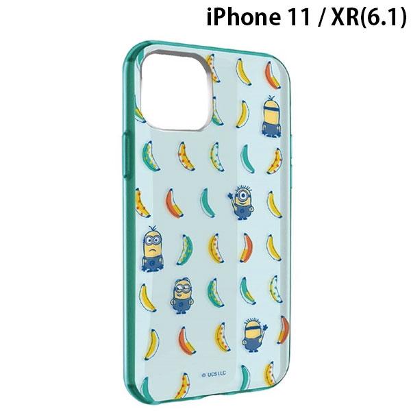 gourmandise iPhone 11 / XR ケース IIIIfi+ (イーフィット) CLEAR 怪盗グルーシリーズミニオン バナナ