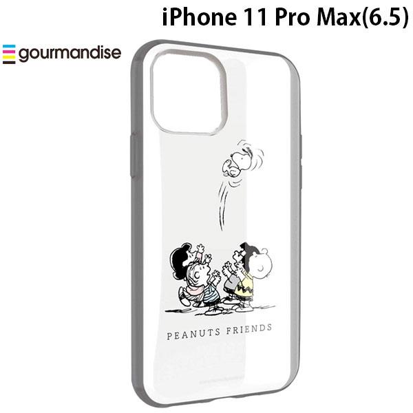 gourmandise iPhone 11 Pro Max ケース IIIIfi+ (イーフィット) CLEAR ピーナッツ フレンズ