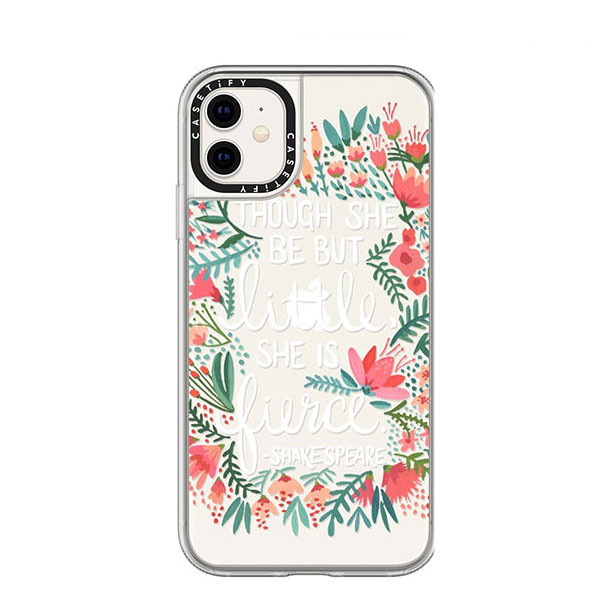 Casetify iPhone 11 / XR grip case Little & Fierce Transparent