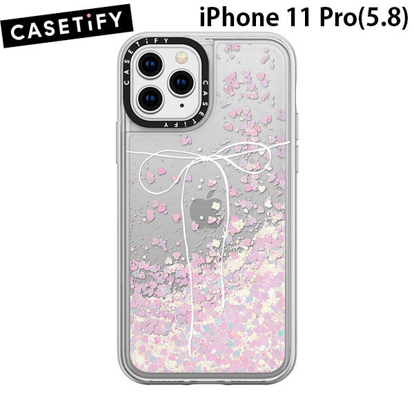 Casetify iPhone 11 Pro glitter case TAKE A BOW II- BLANC