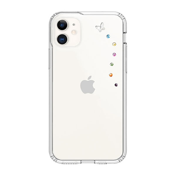 Bling My Thing iPhone 11 BUTTERFLY コットンキャンディー×クリア