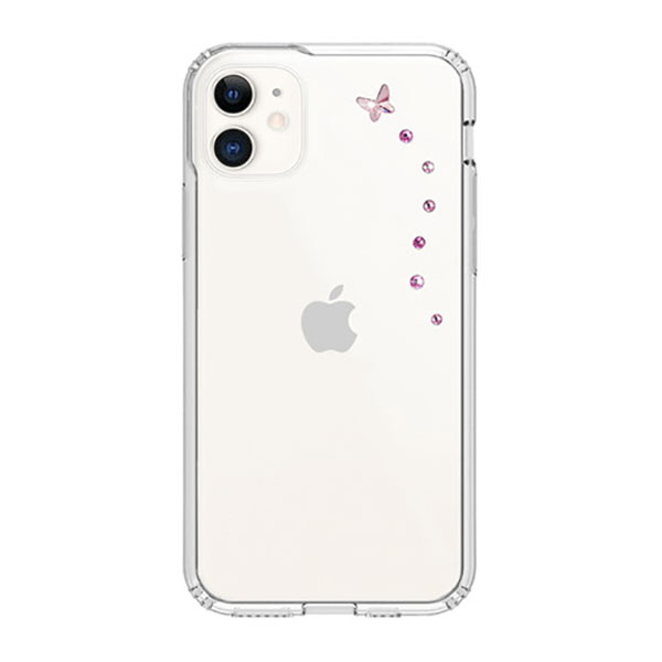 Bling My Thing iPhone 11 BUTTERFLY ローズスパークス×クリア