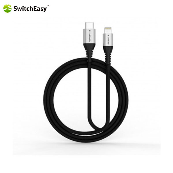 SwitchEasy LinkBuddy MFi認証 USB-C to Lightning Cable 1.5m (Silver)