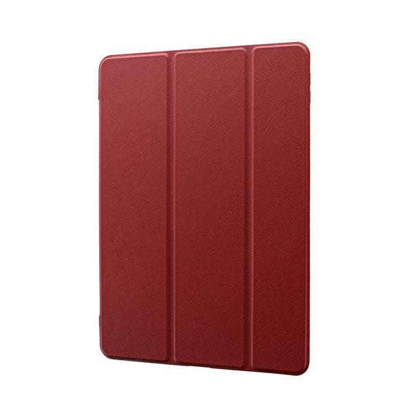 LEPLUS iPad 7th 背面クリアフラップケース Clear Note レッド