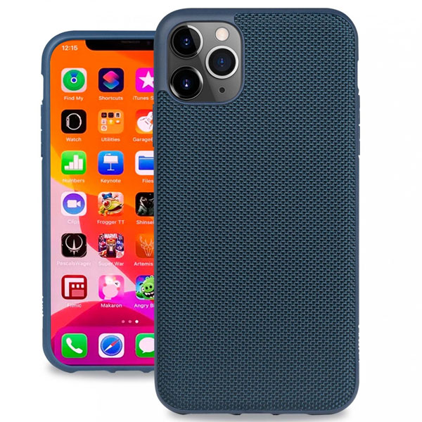 Evutec iPhone 11 Pro Ballistic Nylon Case with AFIX+ Mount Blue