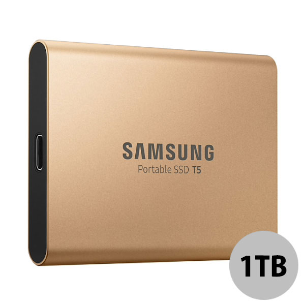 SAMSUNG 1TB ポータブルSSD T5 USB Type-C USB3.1(Gen2) 海外パッケージ ゴールド