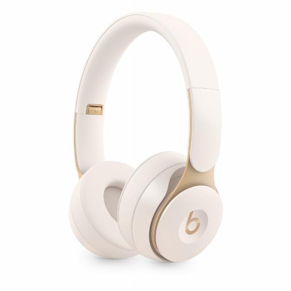 beats by dr.dre Solo Pro Wireless ノイズキャンセリングヘッドフォン - アイボリー