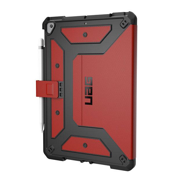 UAG iPad 8th / 7th 耐衝撃 メトロポリスケース フォリオケース (アップルペンシルホルダー付き) マグマ