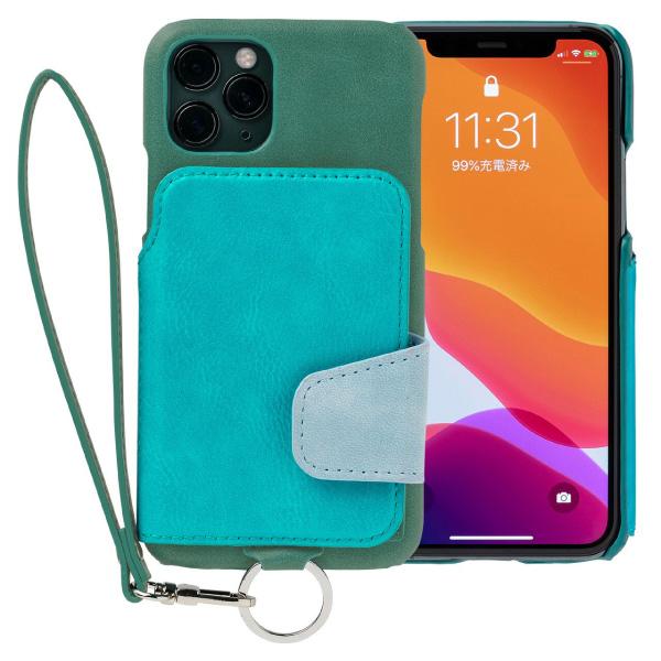 RAKUNI iPhone 11 Pro Soft Leather Case レイクグリーン