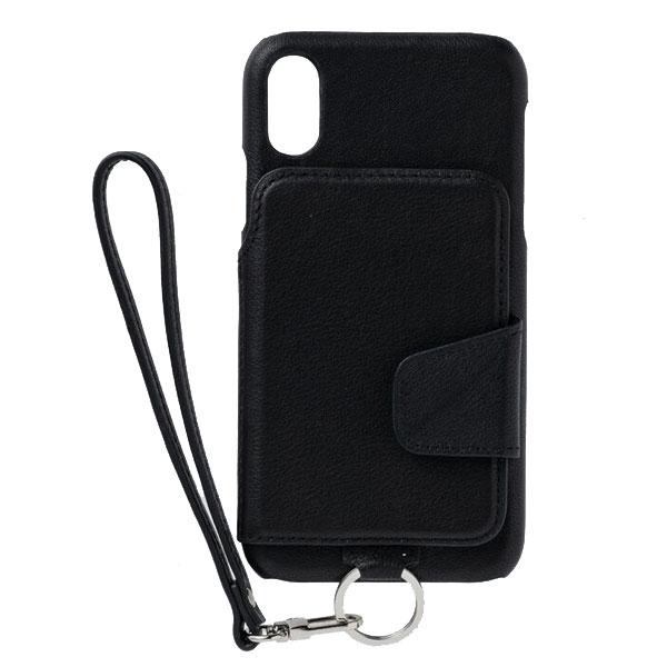 RAKUNI iPhone XR Leather Case 本革 ピュアブラック