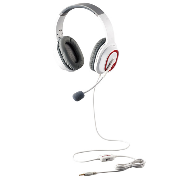エレコム ゲーミングヘッドセット HS-G30 オーバーヘッド ホワイト