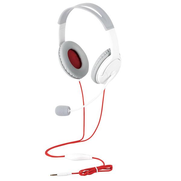 エレコム 両耳ゲーミングヘッドセット オーバーヘッド 延長ケーブル付 1.0m ホワイト