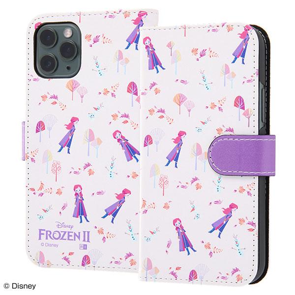 ingrem iPhone 11 Pro ディズニー 手帳型 マグネット レザーアートケース アナと雪の女王2 アナ オラフ