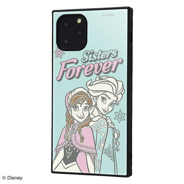 ingrem iPhone 11 Pro ディズニーキャラクター 耐衝撃ケース KAKU ハイブリッド アナと雪の女王 エルサとアナ