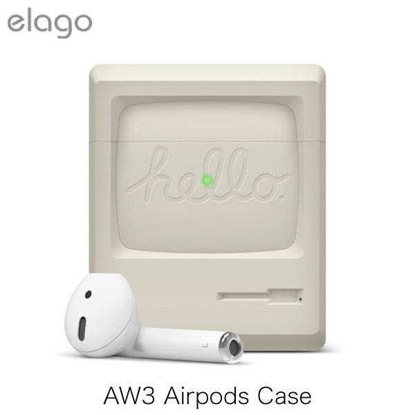 elago AirPods AW3 Case シリコンケース ホワイト