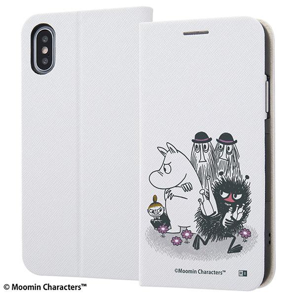 ingrem iPhone XS / X ムーミン 手帳型ケース マグネットタイプ コミック_5