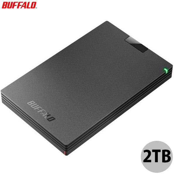 BUFFALO 2TB USB 3.2(Gen1) 対応 ポータブルHDD USB Type-Cケーブル付 ブラック