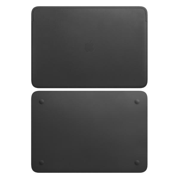 Apple 16インチ MacBook Pro 用 レザースリーブ - ブラック