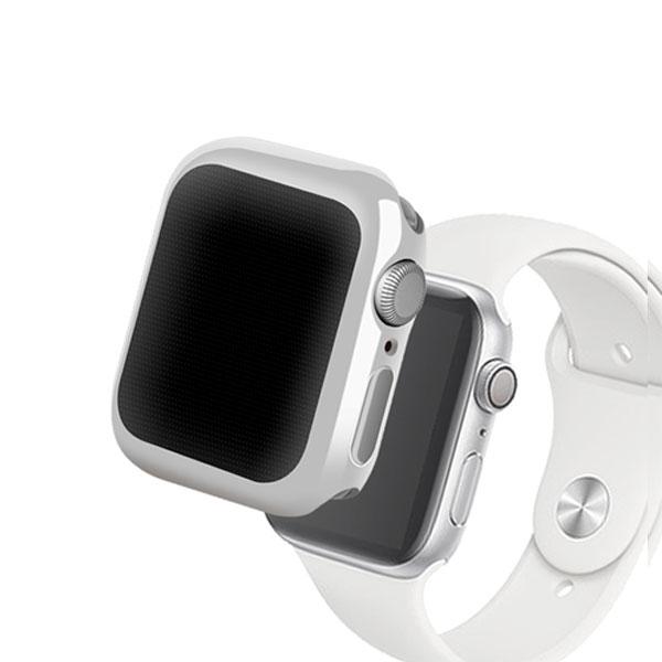 Devia Apple Watch 44mm Series 4 / 5 Gold-plated TPU ケース Silvery