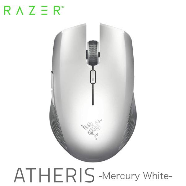 Razer Atheris 無線 光学式 ゲーミングマウス  2.4 GHz + Bluetooth 両対応 Mercury White