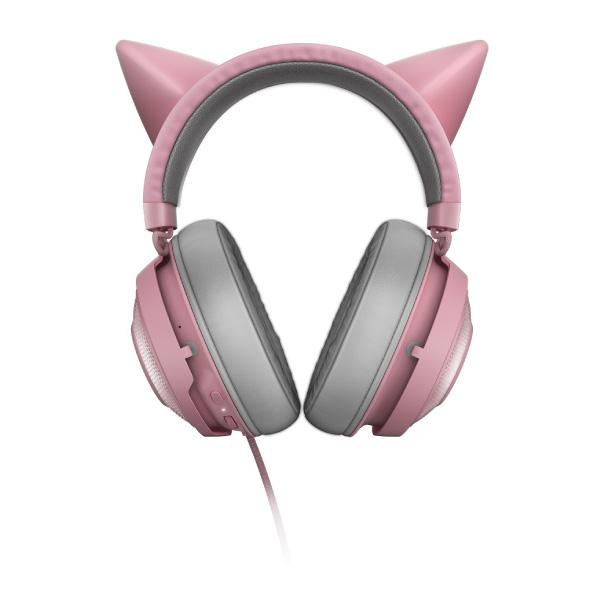 Razer Kraken Kitty USB ライティングエフェクト 対応 ネコミミ ゲーミング ヘッドセット Quartz Pink