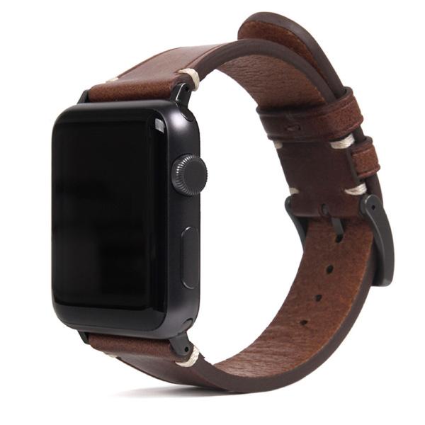 SLG Design Apple Watch 42mm / 44mm Italian Buttero Leather Strap ブラウン