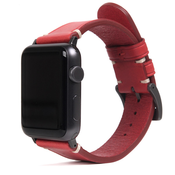 SLG Design Apple Watch 38mm / 40mm Italian Buttero Leather Strap レッド