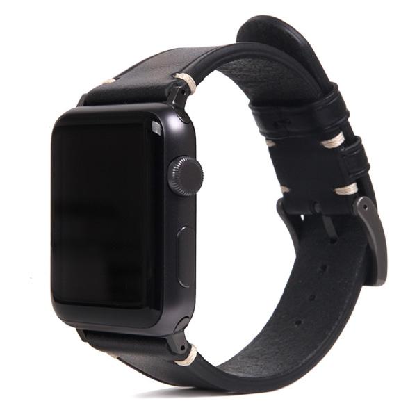 SLG Design Apple Watch 38mm / 40mm Italian Buttero Leather Strap ブラック