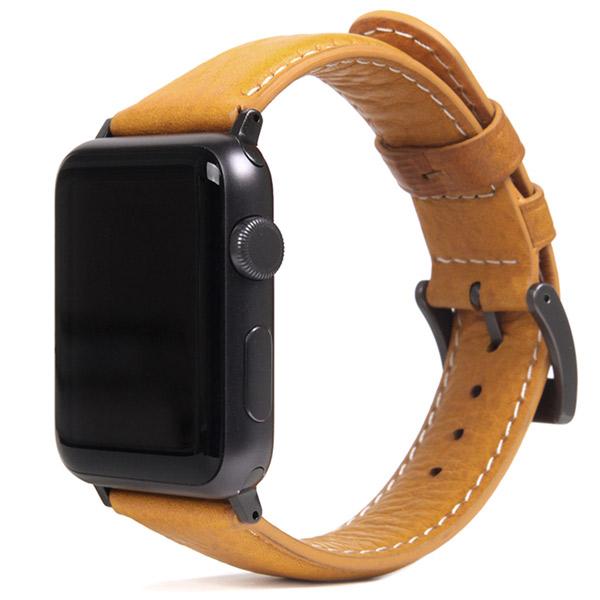 SLG Design Apple Watch 42mm / 44mm Italian Minerva Box Leather タン