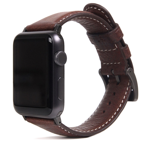 SLG Design Apple Watch 42mm / 44mm Italian Minerva Box Leather ブラウン